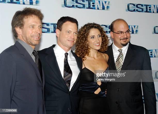 Jerry Bruckheimer executive producer Gary Sinise Melina Kanakaredes and Anthony Zuiker cocreator/executive producer