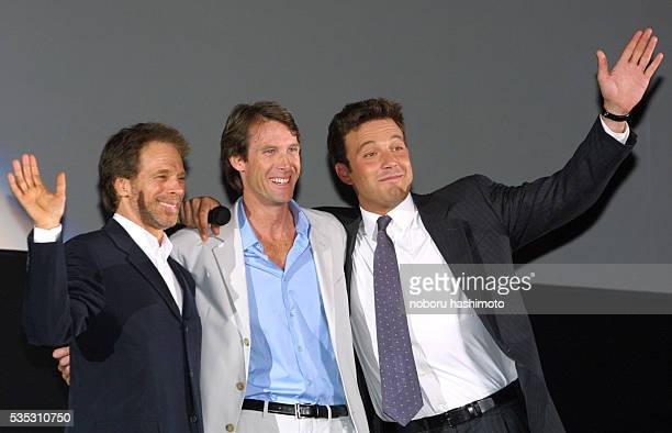 Jerry Bruckheimer film producer Michael Bay film director and Ben Affleck star of the film