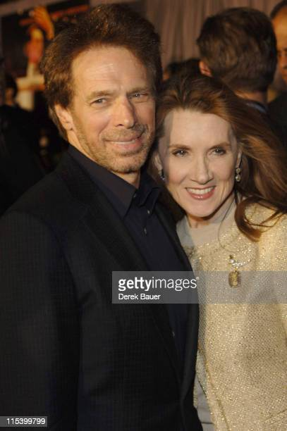 """Jerry Bruckheimer, producer, and wife during Walt Disney Pictures and Jerry Bruckheimer Films' Premiere """"Glory Road"""" at Pantages Theatre in..."""