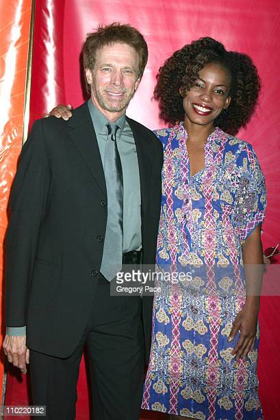 "Jerry Bruckheimer with Aunjanue Ellis of ""E-Ring"" during 2005/2006 NBC UpFront - Red Carpet at Radio City Music Hall in New York City, New York,..."