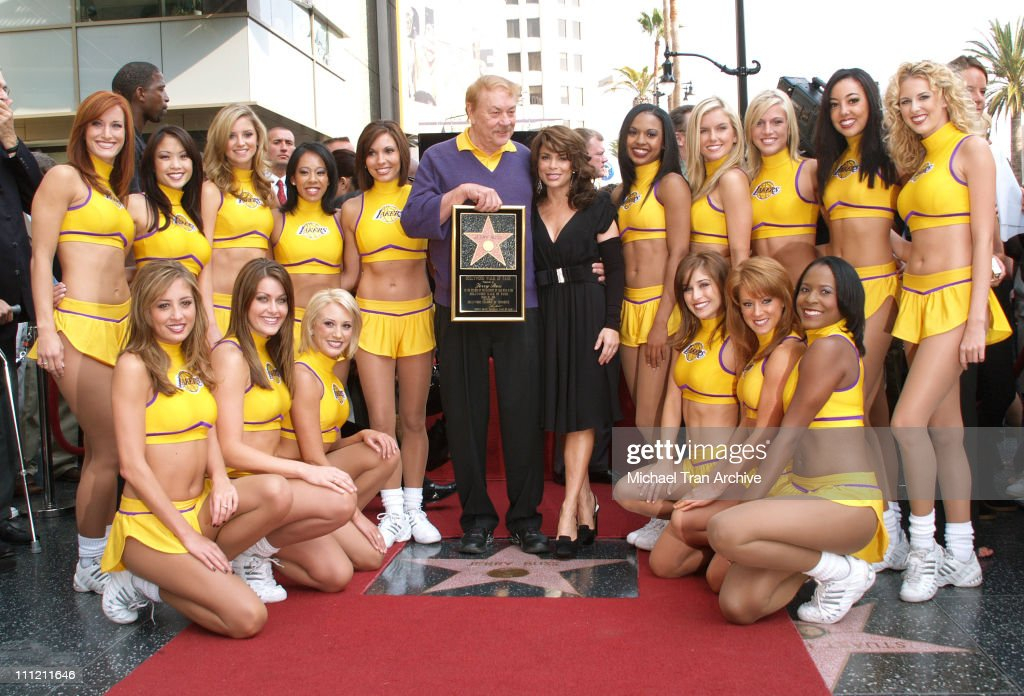 Jerry Buss Honored with a Star on the Hollywood Walk of Fame : News Photo