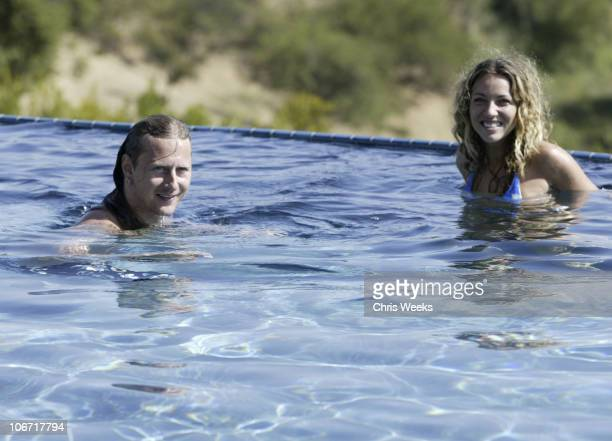Jerry Cantrell and Sanny van Heteren during No Ten by Tanqueray hosts Angela Lindvall's Pool Party Benefitting The Collage Foundation at Private...