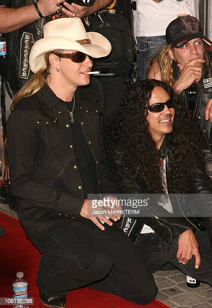 Jerry Cantrell of Alice in Chains during 'Dimebag' Darrell Abbott Posthumously Inducted into Hollywood's Rockwalk at Hollywood Rockwalk in Hollywood...