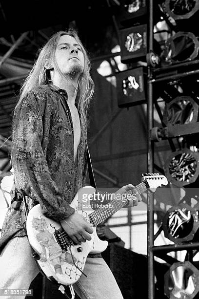 Jerry Cantrell of Alice In Chains performing at Lollapalooza in Thunderbird Stadium at the University of British Columbia in Vancouver Canada on June...
