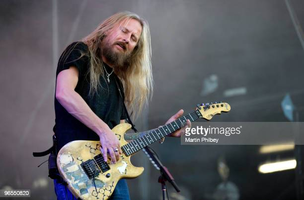 Jerry Cantrell of Alice in Chains performs on stage at Soundwave Festival at the Royal Melbourne Show Grounds on 27th February 2009 in Melbourne...