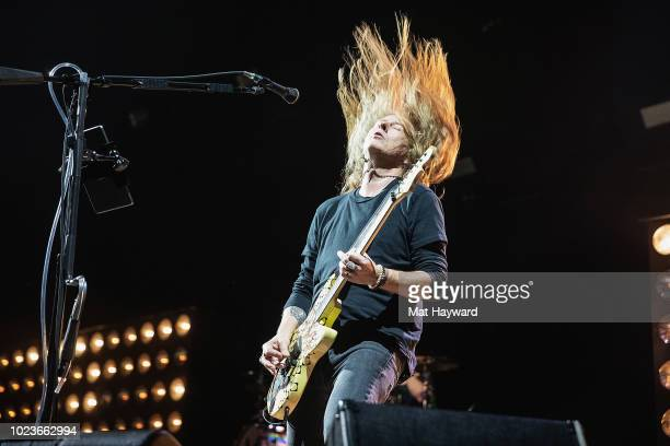 Jerry Cantrell of Alice In Chains performs on stage during Pain In the Grass hosted by 999 KISW at White River Amphitheatre on August 25 2018 in...