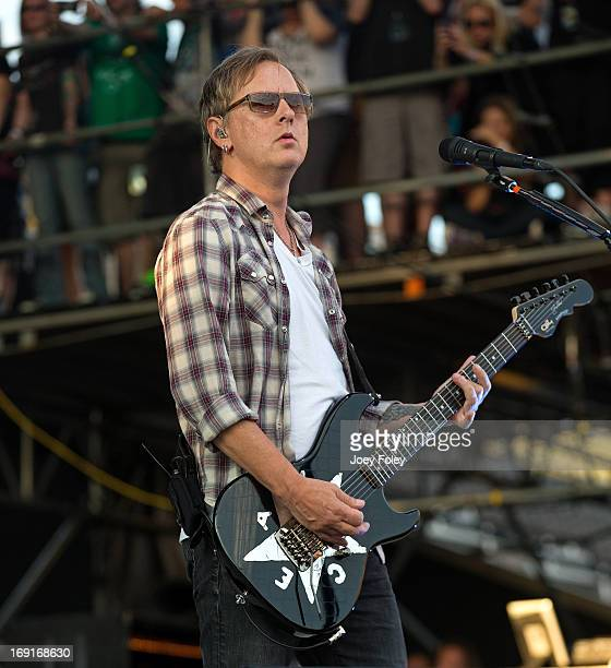 Jerry Cantrell of Alice In Chains performs onstage during 2013 Rock On The Range at Columbus Crew Stadium on May 19 2013 in Columbus Ohio