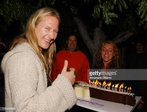 Jerry Cantrell of Alice in Chains with his guitar birthday cake