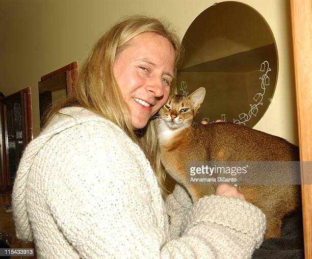Jerry Cantrell of Alice in Chains with his precious cat Osiris