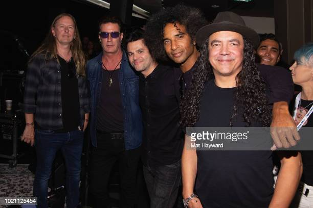 Jerry Cantrell Sean Kinney Grant Random of SiriusXM William DuVall and Mike Inez of Alice In Chains perform for SiriusXM's Lithium Channel at The...