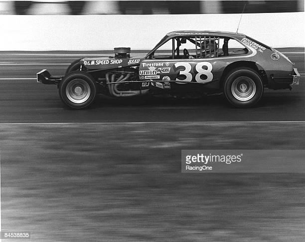 Jerry Cook drives his potent Ford Pinto modified during the NASCAR Modified series race circa 1970's
