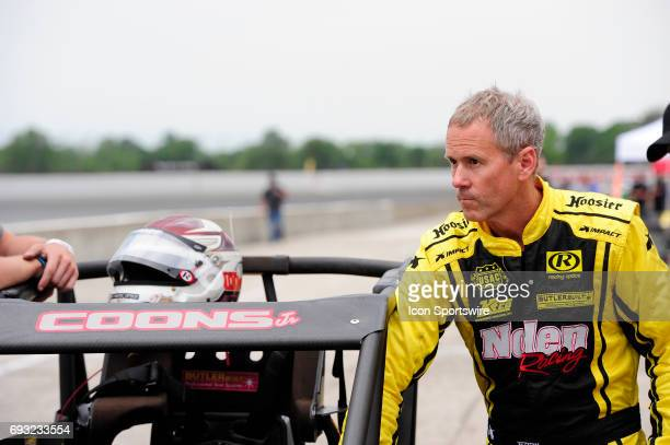 Jerry Coons Jr Gene Nolen Racing driver prepares for the Carb Night Classic United States Auto Club Silver Crown Champ Car Series 100lap feature...