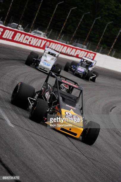 Jerry Coons Jr Gene Nolen Racing races in the Carb Night Classic United States Auto Club Silver Crown Champ Car Series 100lap feature Friday May 26...