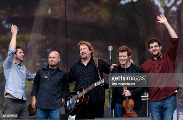 Jerry Douglas and The Jerry Douglas Band perform as part of Hardly Strictly Bluegrass 8 at Speedway Meadow in Golden Gate Park on October 3 2008 in...