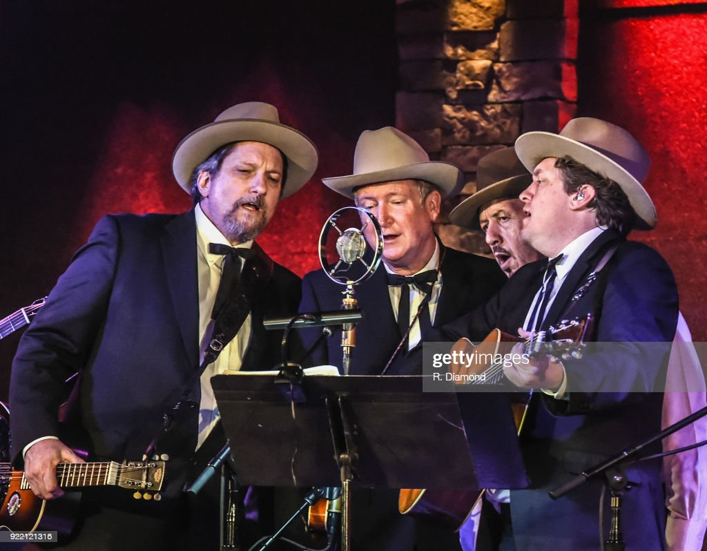 Jerry Douglas, Jeff White, Johnny Warren and Shawn Camp of Earls of Leicester perform at City Winery on February 20, 2018 in Atlanta, Georgia.
