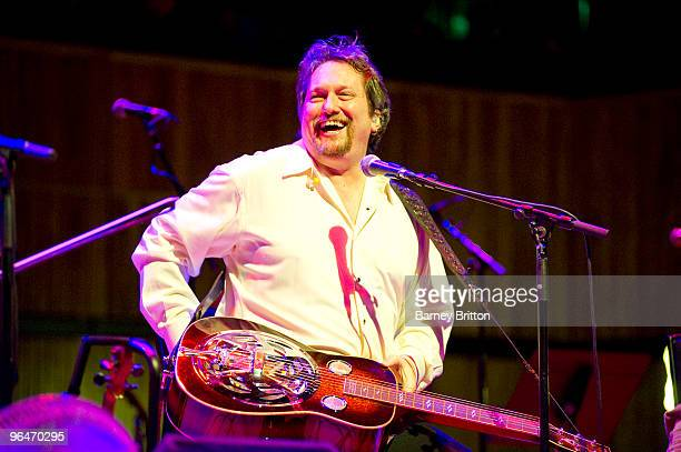 Jerry Douglas of The Transatlantic Sessions performs at the Royal Festival Hall on February 6 2010 in London England
