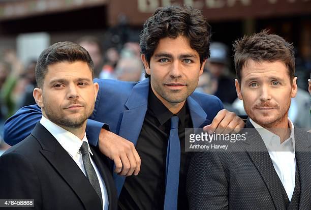 Jerry Ferrara Adrian Grenier and Kevin Connolly attend the European Premiere of Entourage at Vue West End on June 9 2015 in London England