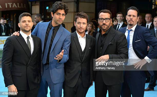 """Jerry Ferrara, Adrian Grenier, Kevin Connolly, Jeremy Piven and Kevin Dillon attend the European Premiere of """"Entourage"""" at Vue West End on June 9,..."""