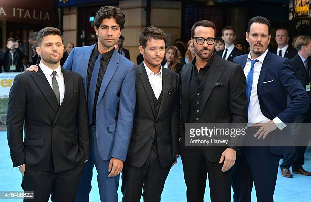"Jerry Ferrara, Adrian Grenier, Kevin Connolly, Jeremy Piven and Kevin Dillon attend the European Premiere of ""Entourage"" at Vue West End on June 9,..."