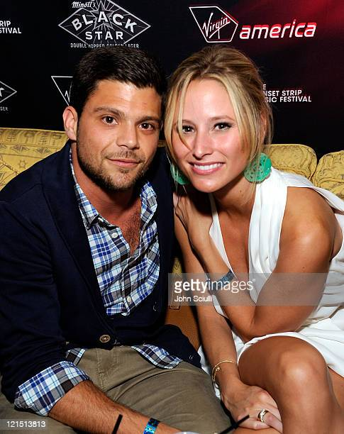 Jerry Ferrara and Alexandra Blodgett attend the Get Stripped VIP Party of the 4th Annual Sunset Strip Music Festival presented by Black Star Beer and...