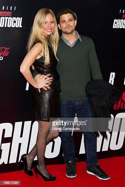 Jerry Ferrara and Alexandra Blodgett attend the 'Mission Impossible Ghost Protocol' US premiere at the Ziegfeld Theatre on December 19 2011 in New...