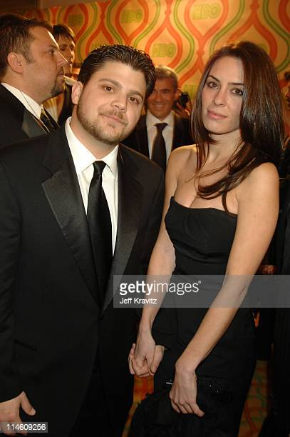 Jerry Ferrara and Alexis Spadero during HBO 2007 Golden Globe After Party - Red Carpet at Beverly Hilton in Los Angeles, California, United States.