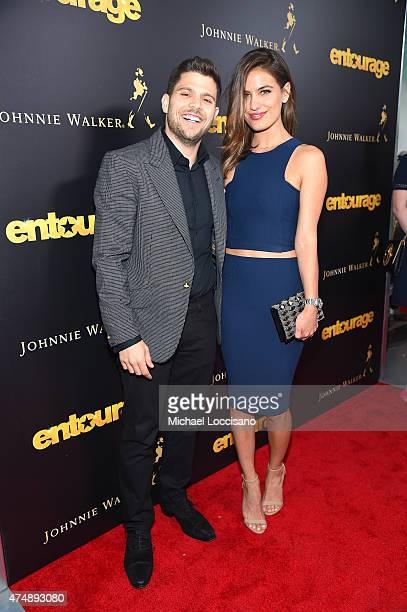 Jerry Ferrara and Breanne Racano attend the Entourage New York Premiere at Paris Theater on May 27 2015 in New York City