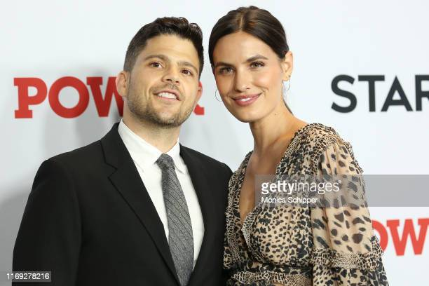 Jerry Ferrara and Breanne Racano attend the Power final season world premiere at The Hulu Theater at Madison Square Garden on August 20 2019 in New...