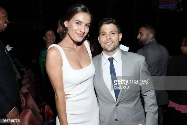 Jerry Ferrara and Breanne Racano attend the Starz Power The Fifth Season NYC Red Carpet Premiere Event After Party on June 28 2018 in New York City