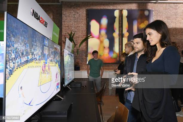 Jerry Ferrara and Breanne Racano attends as Liam Payne Chloe Grace Moretz Brooklyn Beckham and Caleb McLaughlin Host Xbox One x VIP Event Xbox Live...
