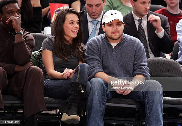 Jerry Ferrara and guest during Celebrities Attend Atlanta Hawks vs New York Knicks Game December 13 2006 at Madison Square Garden in New York City...