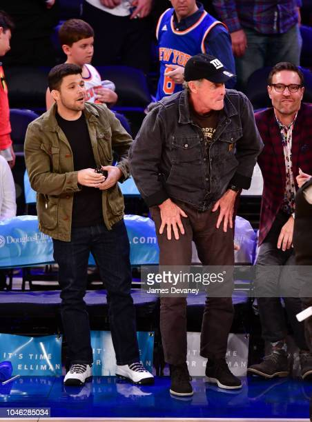 Jerry Ferrara and John McGinley attend the New York Knicks Vs New Orleans Pelicans game at Madison Square Garden on October 5 2018 in New York City