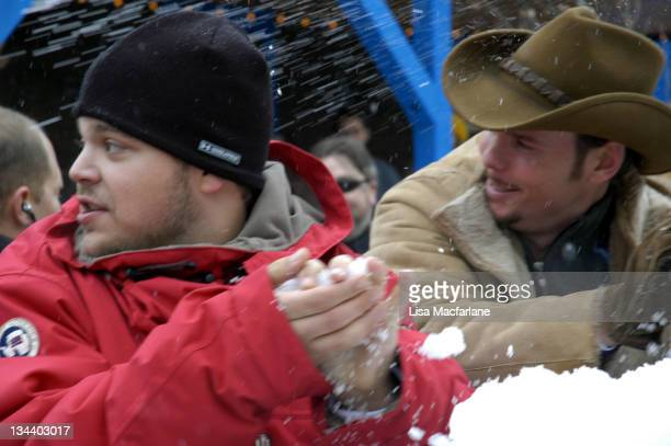 """Jerry Ferrara and Kevin Dillon during 2005 Sundance Film Festival - Taping of """"Entourage"""" - January 27, 2005 at Main Street in Park City, Utah,..."""