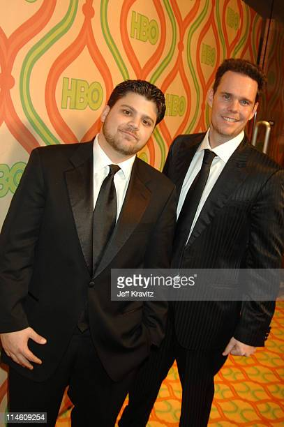 Jerry Ferrara and Kevin Dillon during HBO 2007 Golden Globe After Party - Red Carpet at Beverly Hilton in Los Angeles, California, United States.
