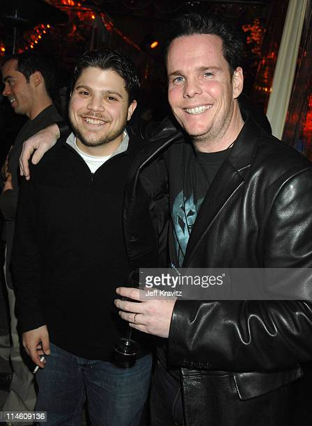 Jerry Ferrara and Kevin Dillon during HBO 2007 Pre-Golden Globes Party at Chateau Marmont in Los Angeles, California, United States.