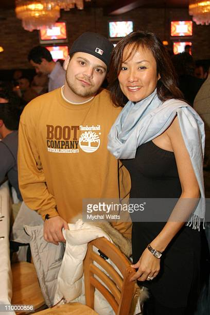 Jerry Ferrara and Mimi Griswold during 2005 Park City Chefdance Benefit for UNICEF at Harry O's in Park City Utah United States
