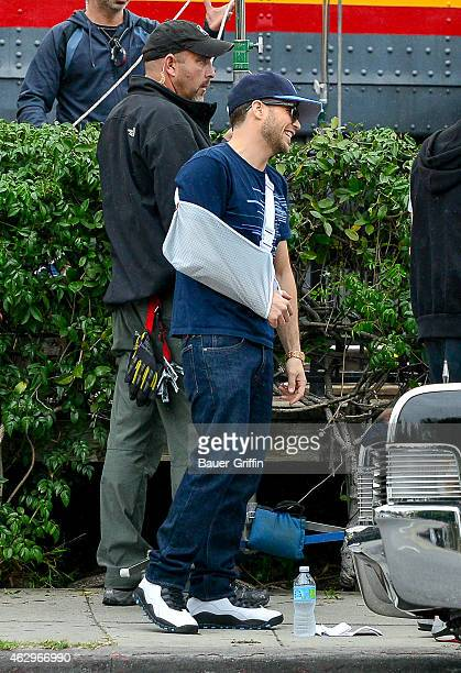Jerry Ferrara is seen on the set of 'Entourage' on February 07 2015 in Los Angeles California