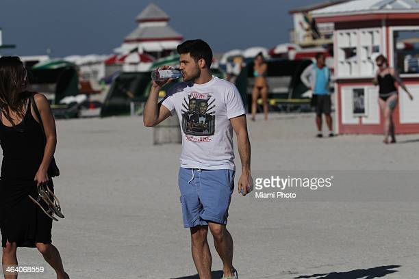 Jerry Ferrara is sighted on January 18 2014 in Miami Beach Florida