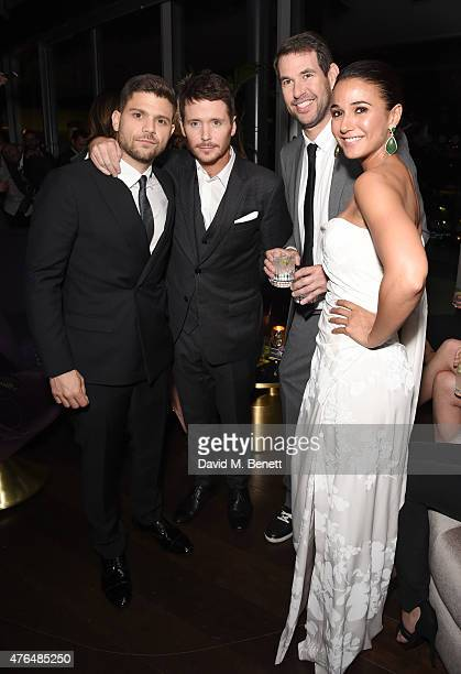 """Jerry Ferrara; Kevin Connolly; Doug Ellin and Emmanuelle Chriqui attends the after party following the European Premiere of """"Entourage"""" at the Rumpus..."""