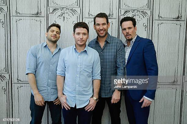 Jerry Ferrara Kevin Connolly Doug Ellin and Kevin Dillon of Entourage attend AOL BUILD Speaker Series at AOL Studios In New York on May 26 2015 in...