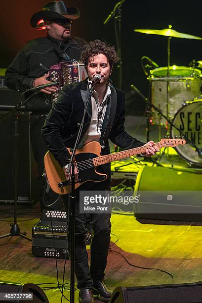 Jerry Fuentes of The Last Bandoleros performs at the Cherrytree Records 10th Anniversary at Webster Hall on March 9, 2015 in New York City.
