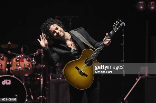 """Jerry Fuentes of The Last Bandoleros performs onstage during the Sting """"57th & 9th"""" World Tour at Hammerstein Ballroom on March 14, 2017 in New York..."""