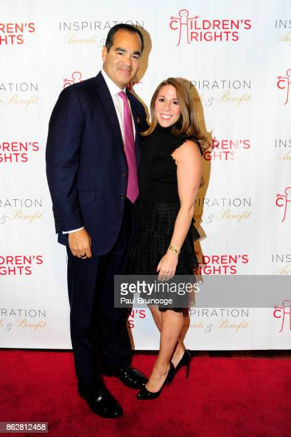 Jerry Garcia and Amanda Forrest attend the Children's Rights Inspiration Awards Benefit Hosted by Jordan Roth at The Lighthouse at Chelsea Piers on...