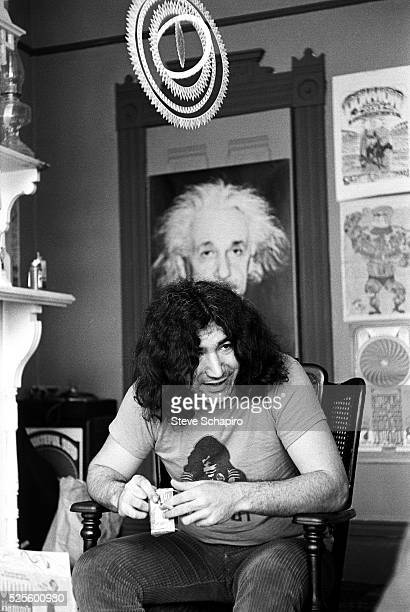 Jerry Garcia in the building the Grateful Dead shared at 710 Ashbury in the Haight Ashbury neighborhood of San Francisco