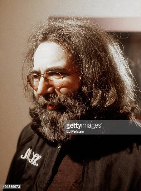 Jerry Garcia is shown backstage at the Warfield Theater on March 25 1980 in San Francisco California Jerry was at the BAM Awards to accept the...