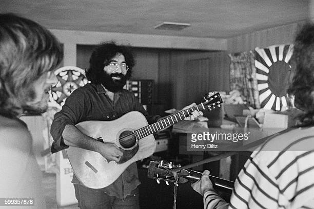Jerry Garcia lead guitarist for the Grateful Dead playing guitar for David Crosby's 1971 debut solo album entitled If I Could Only Remember My Name...