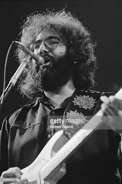 Jerry Garcia of American rock band The Grateful Dead performing at the Empire Pool at Wembley London 7th April 1972