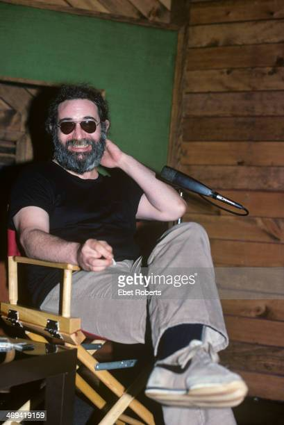 Jerry Garcia of the Grateful Dead at Robert Klein's radio show at DIR Studios in New York City on May 10 1979
