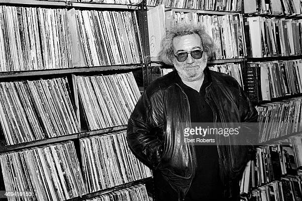 Jerry Garcia of the Grateful Dead at WNEW Radio in New York City on October 16 1989