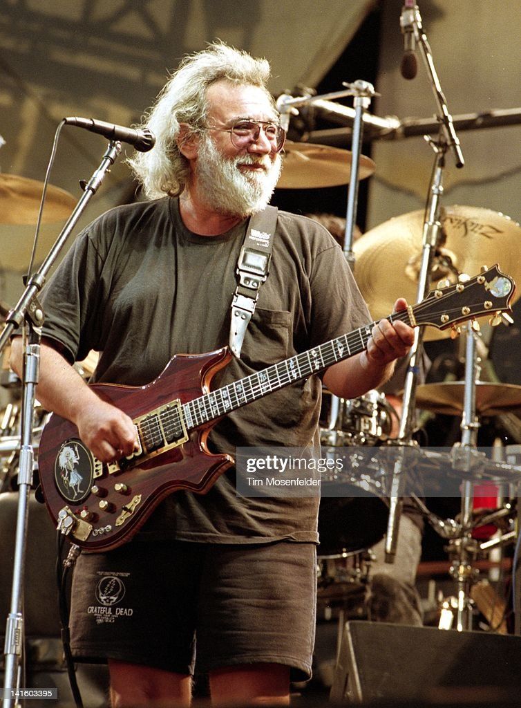 Jerry Garcia of the Grateful Dead performs at Cal Expo